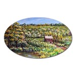 Tenant House in Summer by Ave Hurley - Magnet (Oval)