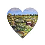 Tenant House in Summer by Ave Hurley - Magnet (Heart)