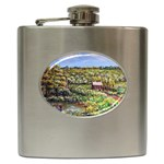 Tenant House in Summer by Ave Hurley - Hip Flask (6 oz)