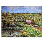 Tenant House in Summer by Ave Hurley - Jigsaw Puzzle (Rectangular)