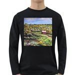 Tenant House in Summer by Ave Hurley - Long Sleeve Dark T-Shirt