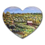 Tenant House in Summer by Ave Hurley - Mousepad (Heart)
