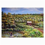 Tenant House in Summer by Ave Hurley - Glasses Cloth (Large)