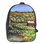 Tenant House In Summer  by Ave Hurley  ArtRave.com/AH-001 School Bag (XL)