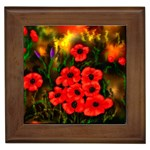 Poppies   by Ave Hurley ~ ArtRave.com Framed Tile