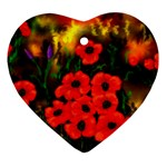 Poppies   by Ave Hurley ~ ArtRave.com Ornament (Heart)