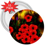 Poppies   by Ave Hurley ~ ArtRave.com 3  Button (10 pack)