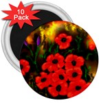 Poppies   by Ave Hurley ~ ArtRave.com 3  Magnet (10 pack)