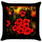 Poppies   by Ave Hurley ~ ArtRave.com Throw Pillow Case (Black)