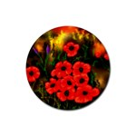 Poppies   by Ave Hurley ~ ArtRave.com Rubber Coaster (Round)