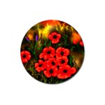 Poppies   by Ave Hurley ~ ArtRave.com Magnet 3  (Round)