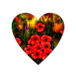 Poppies   by Ave Hurley ~ ArtRave.com Magnet (Heart)