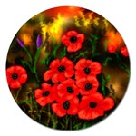 Poppies   by Ave Hurley ~ ArtRave.com Magnet 5  (Round)