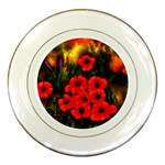 Poppies   by Ave Hurley ~ ArtRave.com Porcelain Plate