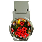 Poppies   by Ave Hurley ~ ArtRave.com Money Clip Watch