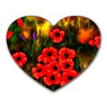 Poppies   by Ave Hurley ~ ArtRave.com Mousepad (Heart)