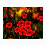 Poppies   by Ave Hurley ~ ArtRave.com Glasses Cloth (Small, Two Sides)
