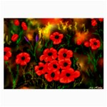 Poppies   by Ave Hurley ~ ArtRave.com Glasses Cloth (Large, Two Sides)