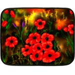 Poppies   by Ave Hurley ~ ArtRave.com Mini Fleece Blanket(Two Sides)