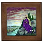 Jesus Overlooking Jerusalem-by AveHurley of ArtRevu - Framed Tile