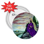 Jesus Overlooking Jerusalem Ave Hurley Ah 001 156 2.25  Button (100 pack)