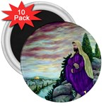 Jesus Overlooking Jerusalem Ave Hurley Ah 001 156 3  Magnet (10 pack)