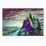Jesus Overlooking Jerusalem-by AveHurley-ArtRevu- Postcard 4 x 6  (Pkg of 10)