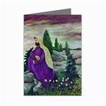Jesus Overlooking Jerusalem-by AveHurley-ArtRevu- Mini Greeting Card
