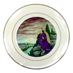 Jesus Overlooking Jerusalem-by AveHurley of ArtRevu - Porcelain Plate