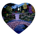 My Garden By Ave Hurley Ah 001 163 Original 1 45mg Ornament (Heart)