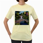 My Garden By Ave Hurley Ah 001 163 Original 1 45mg Women s Yellow T-Shirt