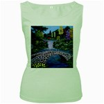 My Garden By Ave Hurley Ah 001 163 Original 1 45mg Women s Green Tank Top