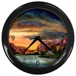 Abigail s Hideaway by Ave Hurley - Wall Clock (Black)