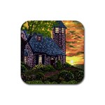 Essex Lighthouse by Ave Hurley - Rubber Square Coaster (4 pack)