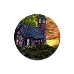Essex Lighthouse by Ave Hurley - Rubber Round Coaster (4 pack)