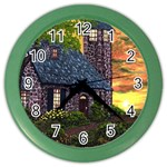 Essex Lighthouse by Ave Hurley - Color Wall Clock