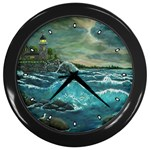 Hobson s Lighthouse by Ave Hurley - Wall Clock (Black)