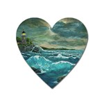 Hobson s Lighthouse by Ave Hurley - Magnet (Heart)