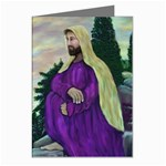 Jesus Overlooking Jerusalem-by AveHurley-ArtRevu- Greeting Card