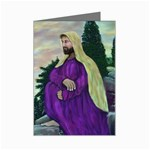 Jesus Looking at the Temple-by AveHurley- ArtRevu- Mini Greeting Card