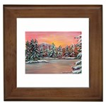 Jane s Winter Sunset by Ave Hurley - Framed Tile
