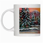 Jane s Winter Sunset by Ave Hurley - White Mug