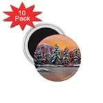 Jane s Winter Sunset by Ave Hurley - 1.75  Magnet (10 pack)