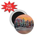 Jane s Winter Sunset by Ave Hurley - 1.75  Magnet (100 pack)