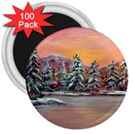 Jane s Winter Sunset by Ave Hurley - 3  Magnet (100 pack)