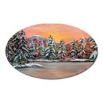 Jane s Winter Sunset by Ave Hurley - Magnet (Oval)