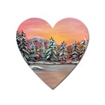 Jane s Winter Sunset by Ave Hurley - Magnet (Heart)