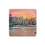 Jane s Winter Sunset by Ave Hurley - Magnet (Square)