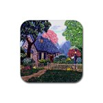 Essex Cottage by Ave Hurley - Rubber Square Coaster (4 pack)