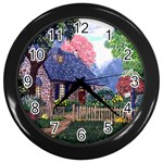 Essex Cottage by Ave Hurley - Wall Clock (Black)